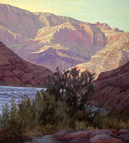 Sunrise Above Lava-Chuar, 50,000 cfs, Grand Canyon, Arizona